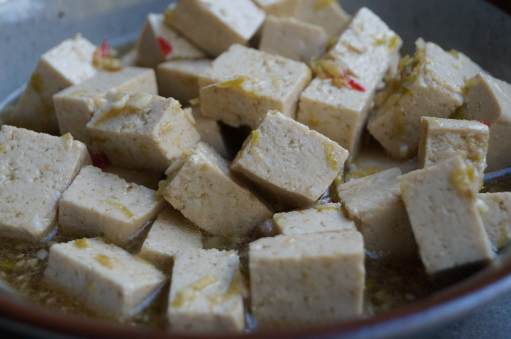 Tofu i marinaden